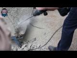 Bosch GSH 7 VC отбойный молоток. работа по армированному бетону