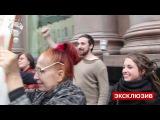 Музыкантов Мэрилина Мэнсона облили святой водой возле отеля [Москва, 27.06.2014]