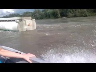 Kamaz cross river in deep water